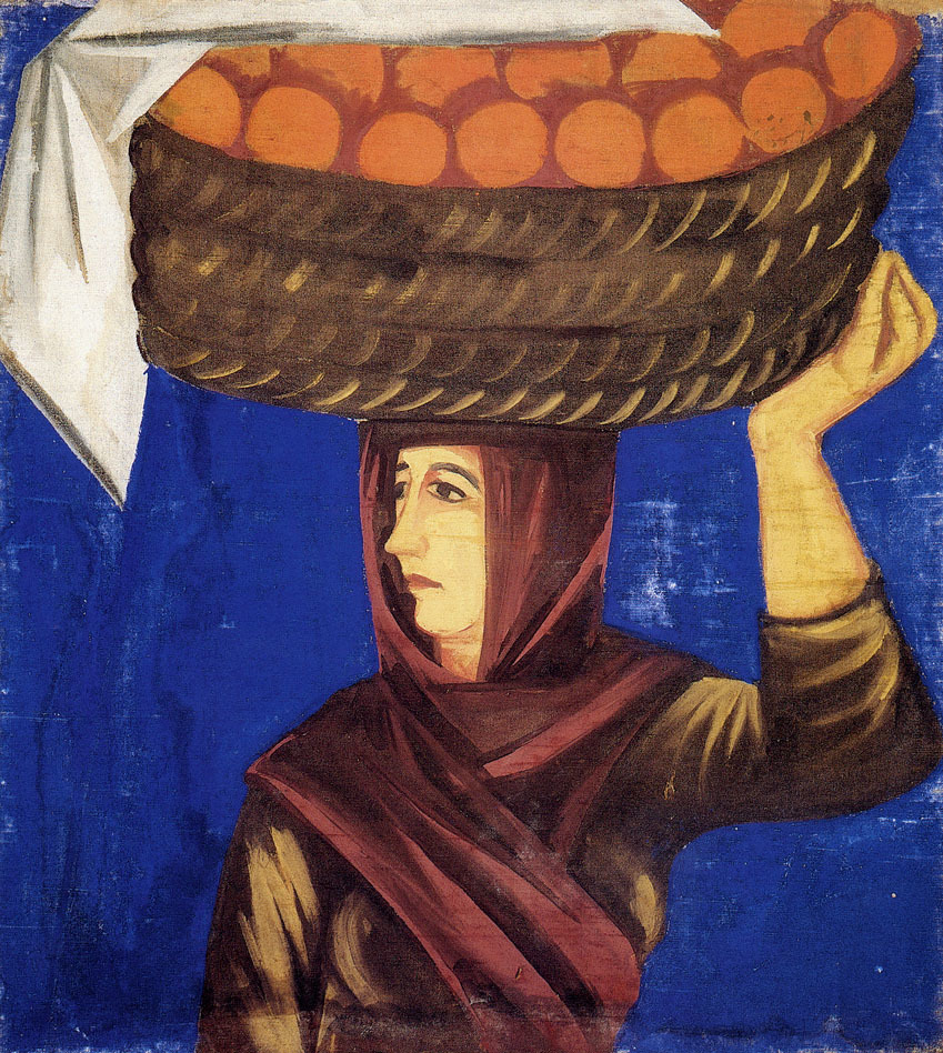 Goncharova_Woman_Carrying_Oranges_early-1910s