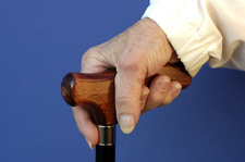 hand and cane