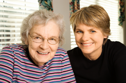 Elderly Woman and Younger Woman