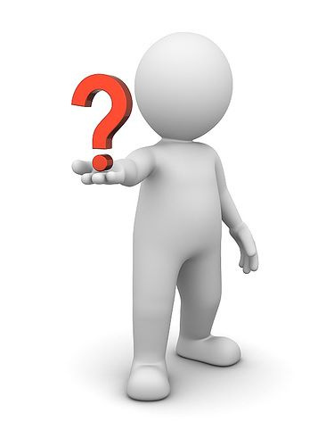 3D Character and Question Mark